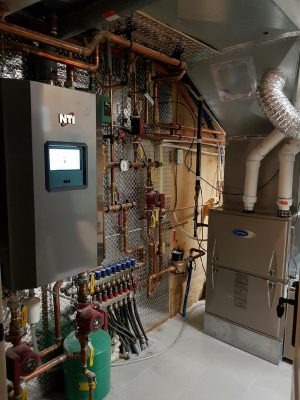 Custom home Hydronics and Carrier furnace